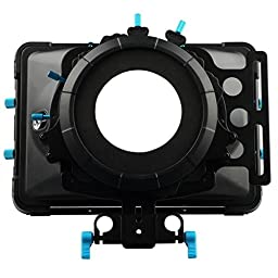 FOTGA DP3000 M2 15mm rod rig matte box with donuts filter holders for Video Camcorder Camera DV DSLR Cameras, Canon 5D MK II, 7D, 60D, 600D (T3i), Nikon D90 D7000 D5100 D3100 D300s, Sony A65 A55, A33, A580, A560, DSR-PD198p, GH1, Gh2, GH3