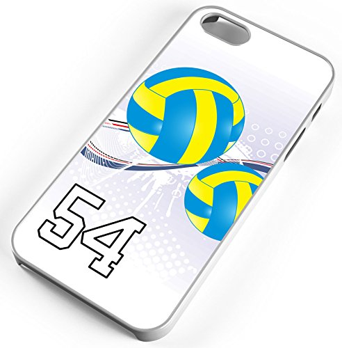 iPhone Case Fits iPhone 6s 6 Volleyball Double Contact Any Custom Jersey Number 54 Clear - Shop Athlete Contact Number