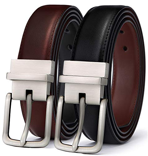 Cross Cool Belt Buckle - Men's Belt, Bulliant Leather Reversible Belt 1.25