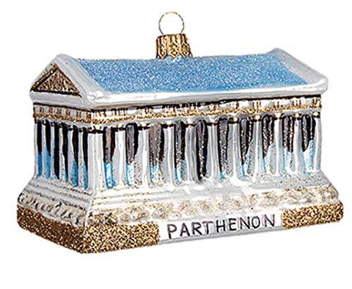 (Parthenon Landmark Athens Greece Polish Glass Christmas Ornament Souvenir Decoration 162)