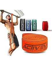 ActiveVikings Premium pull up-träningsband för din fitness – perfekta tygband för muskelbyggande – träningsband pull up-band motståndsband – theraband