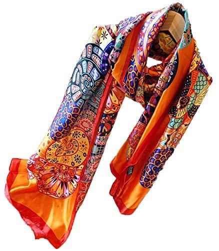 Luxury Silk Scarf Fashion Style Light Large Warm Four Season Gift for Women Men