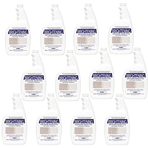 Genuine Kirby 32oz. Brightening Oxygen Additive for carpet shampoo (12 bottles) by Kirby