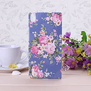 Wkae@ Huawei P7 Case, Rural Flower Pattern Plastic Hard Case For Huawei Ascend P7 By Diebell (3)