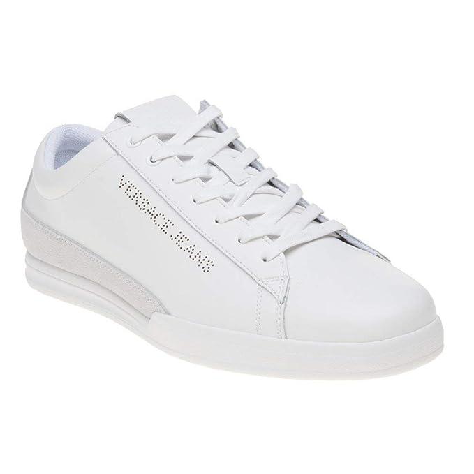 Amazon.com: Versace Jeans Cupsole Lace Mens Sneakers White ...