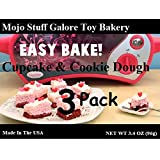 Easy-Bake Ultimate BubbleGum Cake Batter Mix and Pink Sugar Cookies Refill 3 Pack