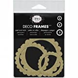 Thermoweb DFRM-1201 Glitter Dust Frame Assortment44; Scallop Circle Gold - 10 per Pack