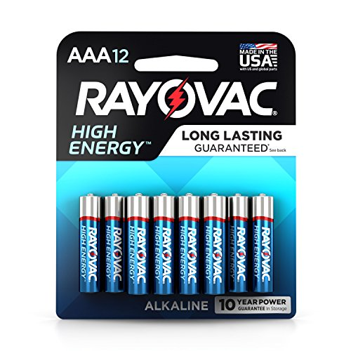 Rayovac AAA Batteries, Alkaline Triple A Batteries (12 Battery Count)