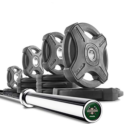 XMark Lumberjack 7 Olympic Bar and Optional Signature Olympic Weight Plate Sets