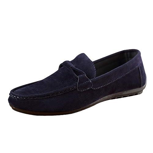 ScarpeSneakersMocassini Uomo ASHOP Berretti in Pelle Scamosciata Moda Scarpe Pigri Scarpe da Guida Scarpe Singole NeroBluGrigio EU 39 EU 44