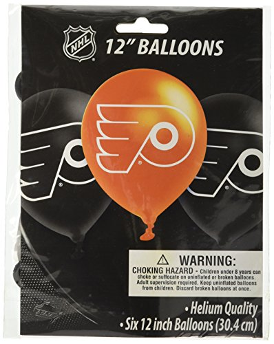 Amscan Philadelphia Flyers Collection Printed Latex Balloons, Party Decoration, 36 -