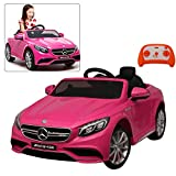 Official Licensed Mercedes Benz AMG S63 Kids Ride On Car Pink | 12V Battery Baby Car Toy With 2.4G Remote Control