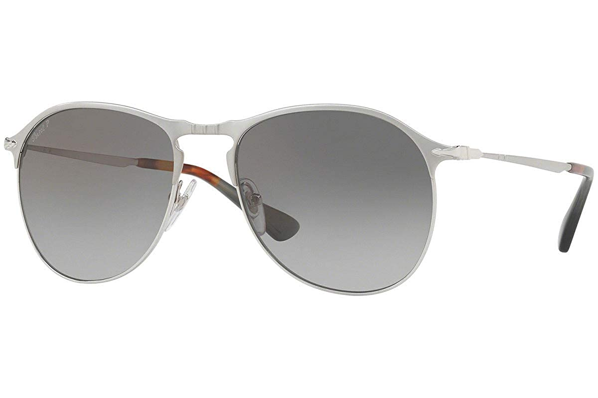Amazon.com: Persol po7649s anteojos de sol plateado mate w ...