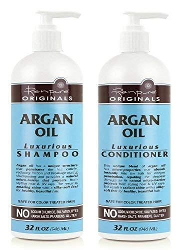 Renpure Originals Argan Oil Luxurious Shampoo and Conditioner, 32 Oz Bottles ()