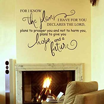 jeremiah 29 for i know the plans i have for you scripture verse wall