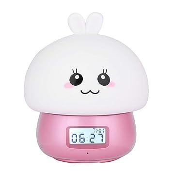 PLEASUR Despertador Infantil, Pantalla Digital Led Cabecera ...