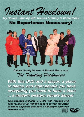 Instant Hoedown! An Introduction to Square Dancing by the Traveling Hoedowners 2 DVD 1 CD Set