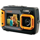 underwater camera coleman - Coleman Duo2 2V9WP-O 20 MP Waterproof Digital Camera with Dual LCD Screen (Orange)