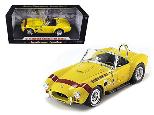 (Maisto 1965 Shelby Cobra Terlingua Racing Team Yellow 1/18 Car Model by Shelby Collectibles)