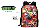 WANGZII Froot Loops Backpack For Women Men,School Hip Hop College Backpack Lightweight Packable Travel Hiking Fashion Backpack