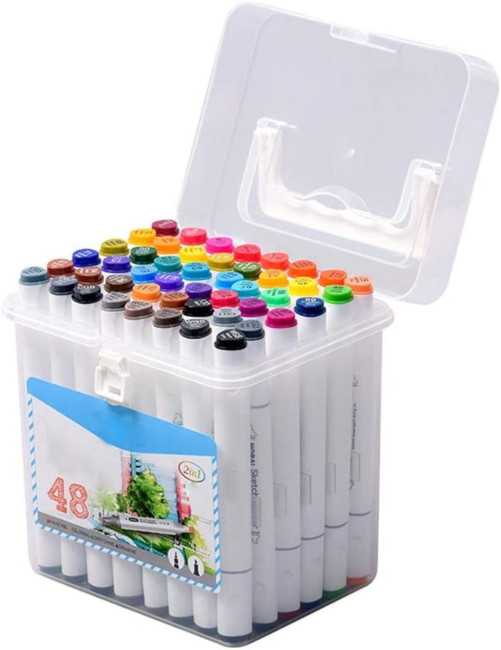Color : White, Size : 5 US Opbsite Quick Dry Markers Marker Pens Set Double-Headed Marker Pen Hand-Painting Artist Marker Pens Gifts for Kids Childrens
