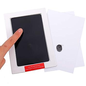 und Footprint-Stempelkissen Sichern Sie ungiftige Druckkits No-Mess Paw Print-Tintenkits f/ür Babys und Haustiere mit Clips Joeleli 2PCS Baby Footprint Set Handabdruck