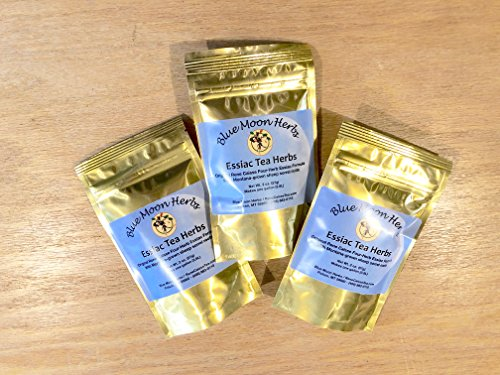 Three-Pack 2 oz. Essiac Tea Herbs Organic with Sheep Sorrel Content 25% Root - 6 oz. Total by Blue Moon Herbs (Image #1)