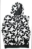 9010 Twisted Zip-Up Hoody Black/White Sweatshirt Men's Size Large