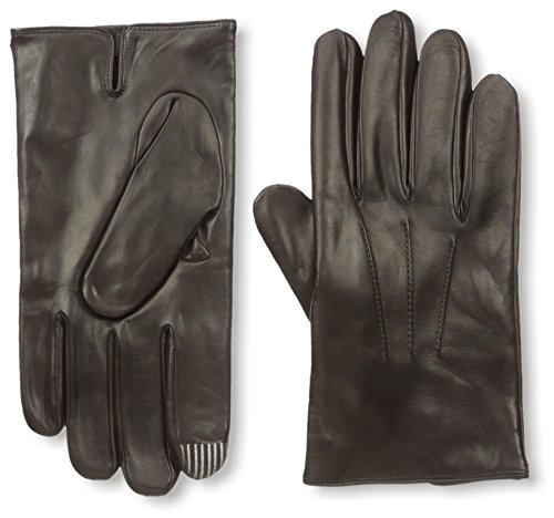 Portolano Men's 2ZA9399 Cashmere Lined Nappa Gloves with Ship Stitch, Chocolate, - Cashmere Portolano