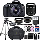 Canon EOS Rebel T6 + 18-55mm IS II Lens+ SD Card Reader + 32GB Memory + Remote + Accessory Bundle - International Version