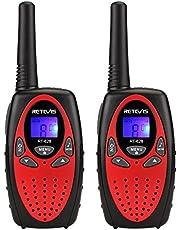 Retevis RT628 Walkie Talkie Niños PMR446 8 Canales 10 Tonos de Llamada VOX Bloqueo de Teclado Volumen Ajustable Walkie Talkie Juguete Regalo para Niños (Plata, 1 par)