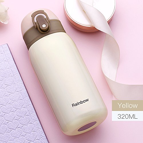 320ML/11oz Vacuum Insulated Flask, Stainless Steel Travel Coffee Mug, Child Kids Adult Drinking Water Bottle Thermos Gift
