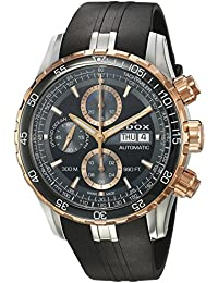 Men's 'Grand Ocean' Swiss Automatic Stainless Steel and Rubber Diving Watch, Color:Black (Model: 01123 357RCA NBUR)