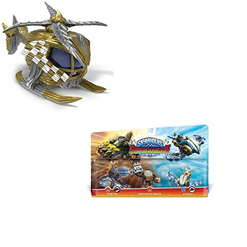 Skylanders Superchargers Characters and Vehicles. Includes Triple Pack Plus Nitro Stealth Stinger. Epic Adventures Await with This Two Pack of Figures for Skylanders Superchargers.