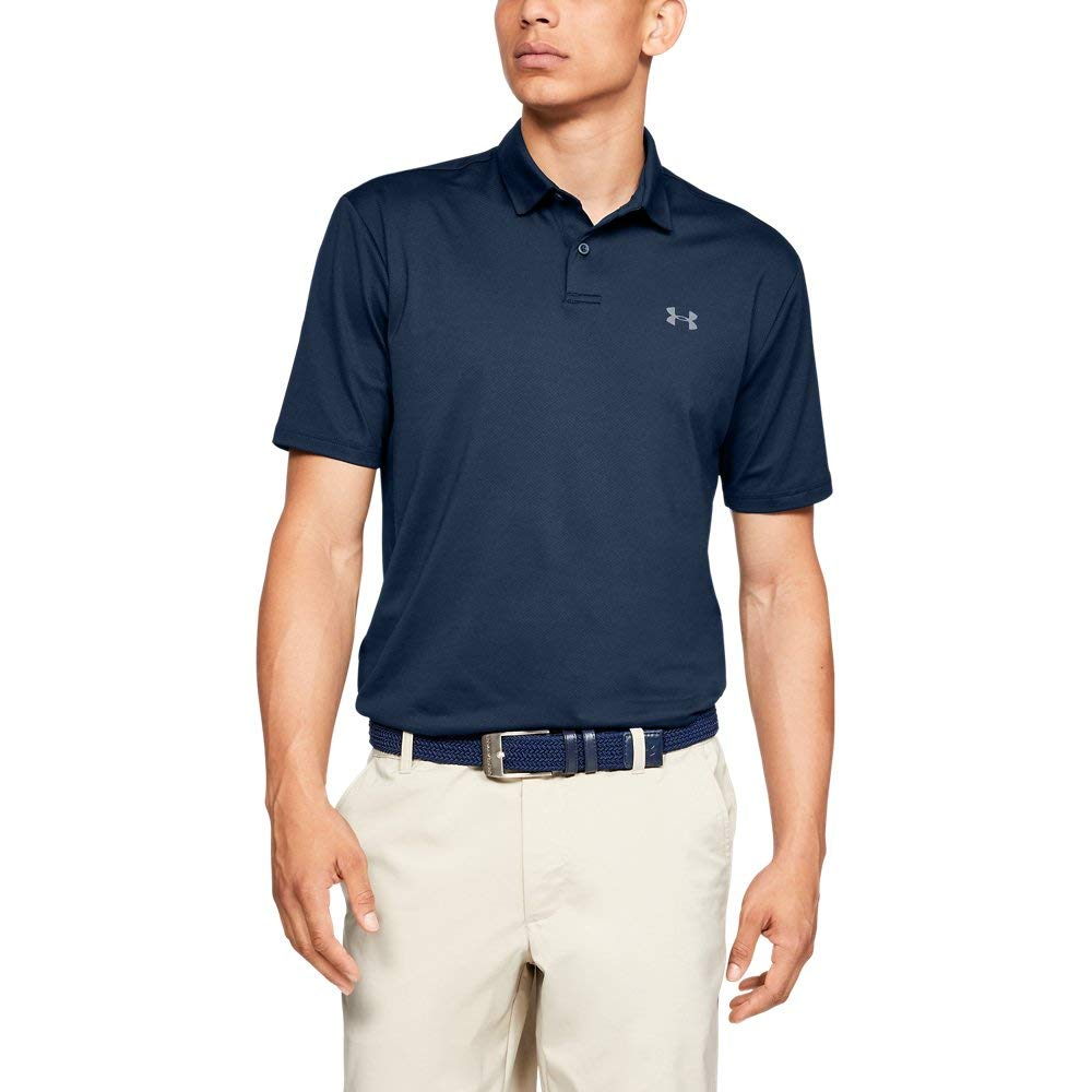 Under Armour Men's Performance Polo 2.0, Academy//Pitch Gray, Small by Under Armour (Image #1)