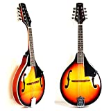 A Style Mandolin Instrument with Adjustable Truss-Rod by Hola! Music (Model HM-3TS) - Glossy Sunburst Finish