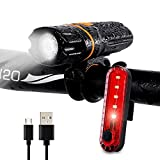 SpLYJ USB Rechargeable Taillight IPX6 Waterproof 6 Mode Bicycle Light Flashlight Super Bright
