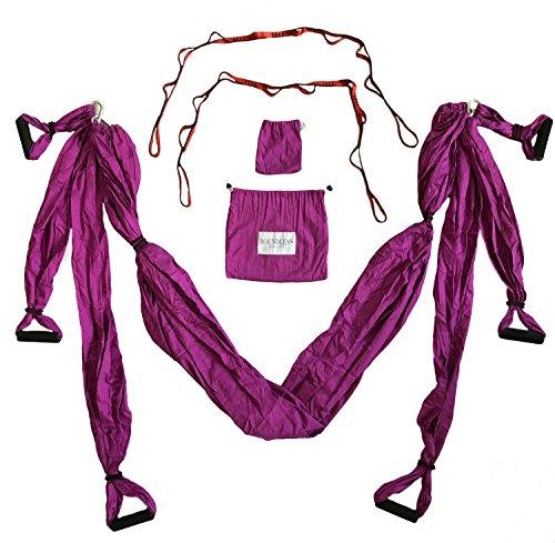 Boundless Athletics Yoga Hammock Swing/Sling/Inversion Tool (Maroon)