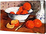 """This 11"""" x 15"""" premium gallery wrapped canvas print of Still Life with Oranges by Paul Gauguin is meticulously created on artist grade canvas utilizing ultra-precision print technology and fade-resistant archival inks. This magnificent canvas print i..."""