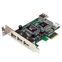 Startech.com 4 Port Pci Express Low Profile High Speed Usb Card (Pexusb4dp)