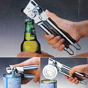 Stainless Steel Easy Grip Hand Jar Bottle Can Lid Opener Kitchen Manual Tools