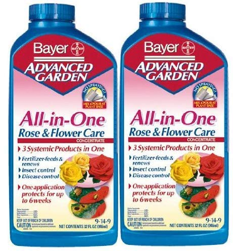 Bayer Advanced All in One Rose & Flower Care 9-14-9 32 oz (2-Pack 32Oz) by Bayer Advanced