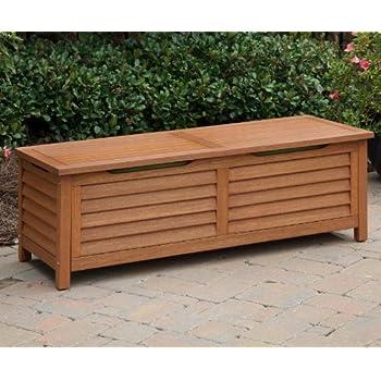 Home Styles 5661 25 Montego Bay Deck Box, Eucalyptus Finish