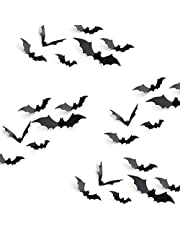 KUUQA Halloween Party Decoration Decal Wall Sticker DIY PVC 3D Decorative Bats 24 Pieces