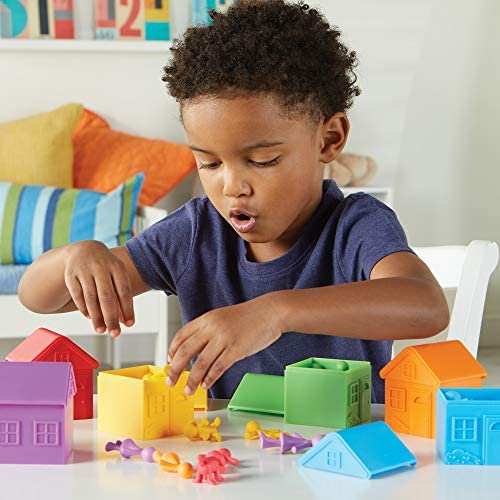 Learning Resources All About Me Sorting Neighborhood, Fine Motor & Sorting Skills, Montessori Toys, Special Education Actives, Imaginative Play, 6 Pieces
