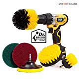 Holikme 6 Piece Drill Brush Attachment Set Scouring Pads Power Scrubber Brush Scrub