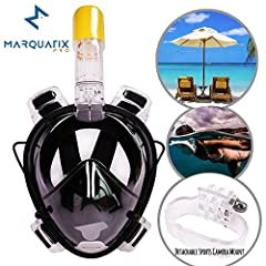 If beaches are your favorite vacation destinations, this product is for you. Marquatix Pro Full Face Snorkeling Mask lets you enjoy exploring sea life in the most pleasant way possible. If you have already tried regular snorkeling gogg...