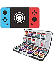 HEIYING Game Card Case for Nintendo Switch&Switch OLED&Switch Lite Game Card or Micro SD Memory Cards,Custom Pattern Switch Game Memory Card Storage with 24 Game Card Slots and 24 Micro SD Card Slots.(Classic Buttons)