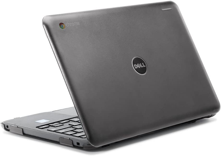 "iPearl mCover Hard Shell Case for 2017 11.6"" Dell Chromebook 11 3180 Series Laptop (NOT Compatible with 210-ACDU / 3120/3189 Series) (Black)"