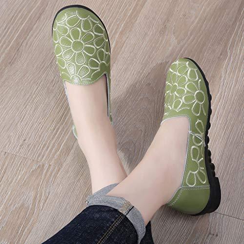 Moda Vovotrade ✞ Mocassino Ginnastica Scarpe Da Verde Più Ricamato Donna Morbide Casual Slip Antiscivolo Votato on rwAa7qKwUX